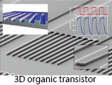 3D organic transistor