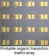printable organic transistors matrix array